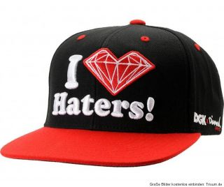 Dirty Ghetto Kids DGK Snapback Cap I Love Haters NeuDGK x Diamond