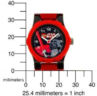 LEGO Star Wars Uhr Kinderuhr Armbanduhr für Kinder Darth Vader (ohne