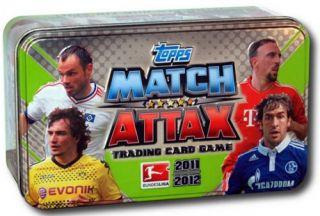 Match Attax Tin Box Fussball Blechbox Sammelkarten NEU verschweißt