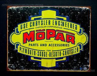 Mopar Dodge Chrysler Plymouth WerkstattSchild *802