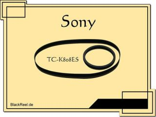 Sony TC K808 ES Riemen rubber belts Cassette Tape Deck