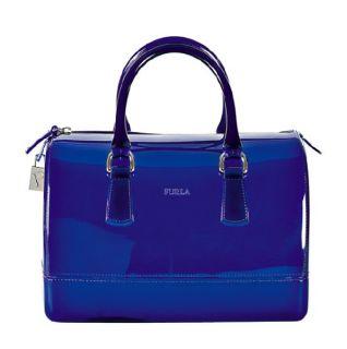 Original FURLA Candy Bag Tasche Henkeltasche Neon blau transparent NEU