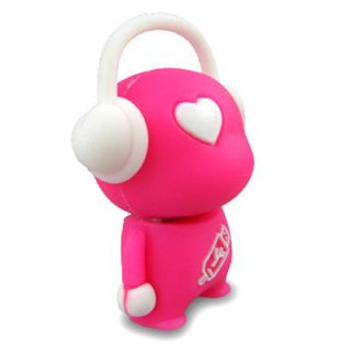 No7700080016 TRENDY USB STICK 16GB FIGUR ROSA  MUSIK KID