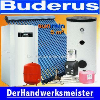 Buderus Wärmepumpe Luft Logaplus WPL + Solaranlage 5 m² Heatpipe