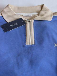 BRAX Shirt Gr. S KurzArm PoloKragen Rvs (820bl) kornblau