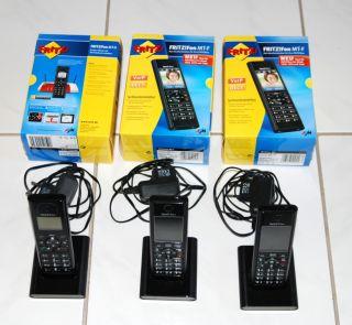 2x AVM FRITZFon MT F 1x MT D, Schnurloses Telefon