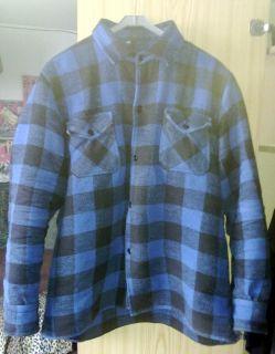NEU Fleece Holzfällerhemd Blau Schwarz großkariert 80er Retro Style