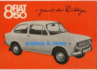 Katalog FIAT 850, Dt. FIAT Aktiengesell. Heilbronn