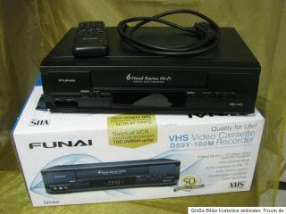 FUNAI D50Y 100M VHS Video Cassetten Recorder mit Garantie & OVP