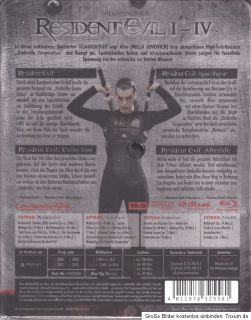 Resident Evil 1,2,3,4 limitierte Quadrologie 3D NEU, Steelbook, Uncut