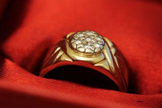 SOLITÄR UNIKAT WEISS 14ct 585 GOLD RING MIT 0,21ct BRILLANT DIAMANT