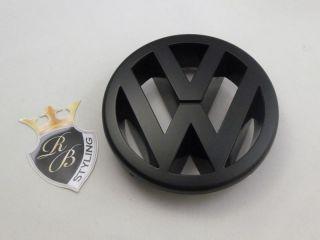 schwarz schwarzes matt VW Zeichen Emblem Golf 5 V GTI Polo Touran Eos