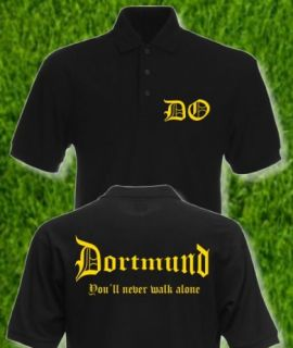Dortmund Polo  never walk alone  Fan Shirt  S XXL  NEU  Stadt