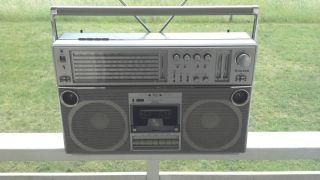 Silver ST 858 Ghettoblaster,Boombox Baujahr 1980 RAR Generalüberholt