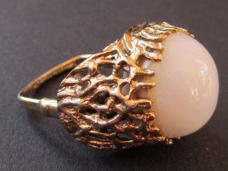 Nachlaß alter Ring prunkvoll gepunzt 855 PAT Handschuh Ring? antiker