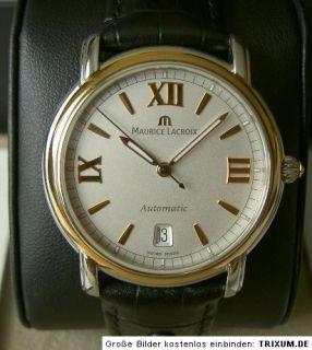Maurice Lacroix Herrenuhr Pontos Automatic Stahl Gold PT6017 Box
