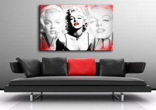 Marilyn Monroe Bild Leinwandbild Poster auf Leinwand Bild Gemälde
