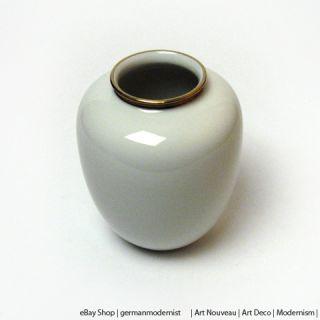 Edelstein Bavaria  Golddekor Vase  Art Deco um 1940  H 14,5 cm