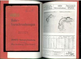 ERMETO Rohr Verschraubungen Katalog Baureihe 11 Katalog Stand 2 1943