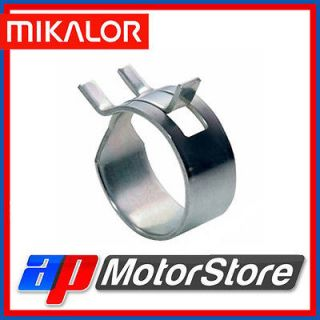 Mikalor Steel SPRING BAND TYPE Fuel Line Hose Clips Silicone Air Vac