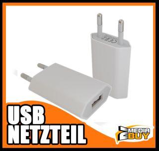 USB Adapter Ladeadapter Ladegeraet Netzteil weiss fuer iPhone 4 4s
