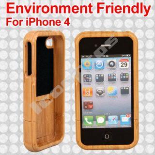Bambus Schale Schutzhülle Etui Gehäuse für Apple iPhone 4G