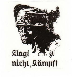 Aufkleber/Sticker Fallschirmjäger Klagt nicht, kämpft