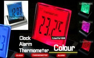 LED Digital Thermometer Alarm Home Clock LCD Calendar