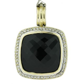 David Yurman Large Albion Sterling Silver and 18k Gold Onyx and