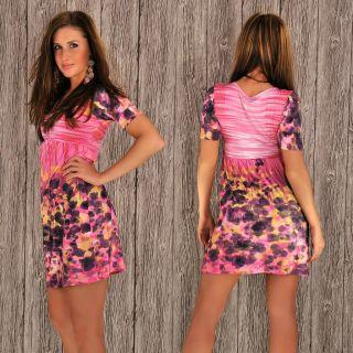 Longshirt Kleid Tunika Minikleid Double Look versch.Farben&Größen