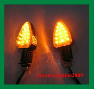 4X Universal 15 LED Motorcycle Motorbike Turn Signal Lights Indicators