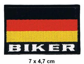 BIKER DEUTSCHLAND Aufnäher Patch Motorrad Chopper Kutte Germany