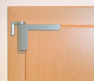 Abus Mini Türschließer, Silber, aufsteckbar ohne Bohren
