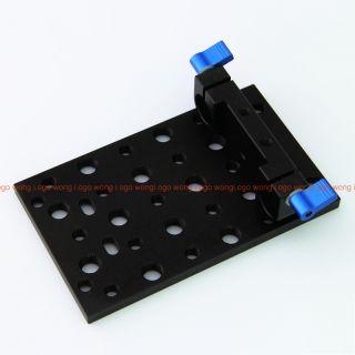 Tripod BasePlate Mount Plate Rod Clamp fr Support DSLR Rig