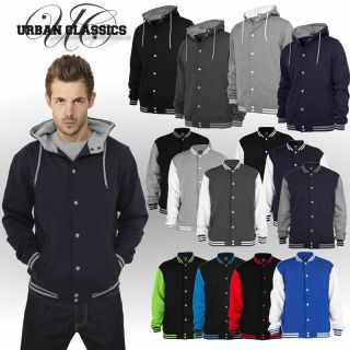 Urban Classics 2 tone u. Hooded College Sweatjacket Herren Sweatshirt