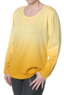 NEU KLINGEL Damen Pullover Strick Pulli Longsleeve Shirt gelb