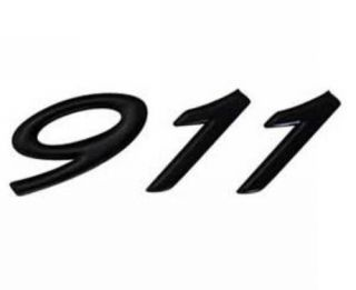 GENUINE PORSCHE 911 BLACK REAR BADGE LOGO DECAL NEW PORSCHE PART 1965
