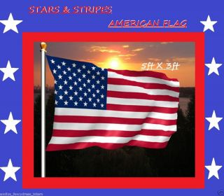 AMERICAN FLAG STARS AND STRIPES USA 5ft x 3ft