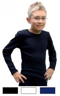 Kinder Unterhemd langarm Shirt Jungen Mädchen Baumwolle Unterwäsche