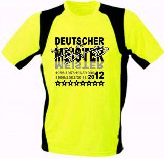Deutscher Meister BVB Funktion Shirt S 3XL gelb/schwarz