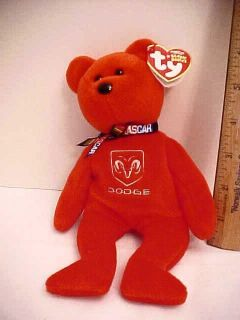 TY Beanie Babies DODGE NASCAR #9 KAHNE NEW OLD STORE STOCK GS909