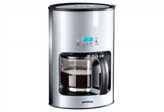 Edelstahl Kaffeemaschine mit Timer für 10 12 Tassen 1,25l Top Design