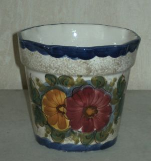 Übertopf F.L Deruta ,Blumenübertopf Keramik,H.13,5cm / Ø15cm,Italy