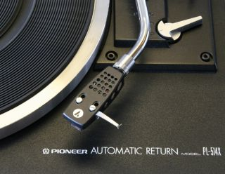 Pioneer PL 514X Turntable with Ortofon FF15E MKII cartridge. Black PL