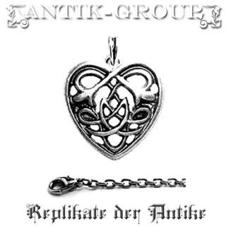 CELTIC HEART + Kette 925 Kelten Schmuck Gothic Amulett