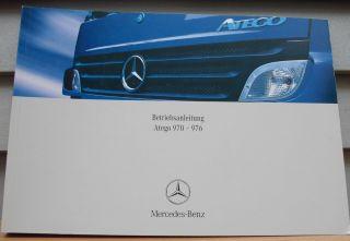 original Mercedes Benz Betriebsanleitung Bedienungs anleitung Atego