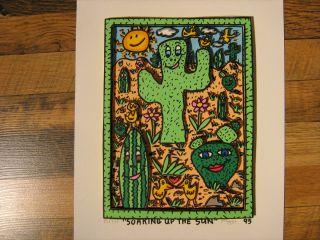 James Rizzi Soaking up the Sun 3D 1886+1998 Classic Serie