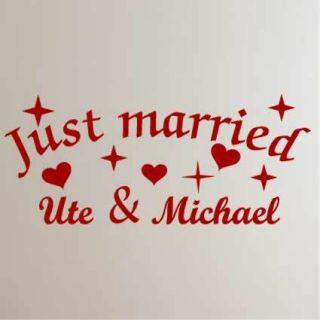 Wandtattoo Hochzeit heiraten just married Ehe Liebe 905