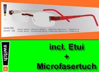 Switch it Combi 905 Wechselbrille Garnitur Eye Glasses Glitter rot