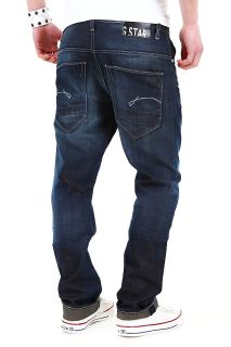 STAR RAW MORRIS TAPERED FIT JEANS HERREN LOOSE HOSE DUNKELBLAU 3301